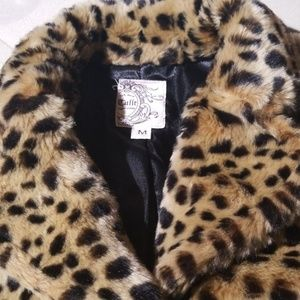 Cheetah  print faux fur jacket
